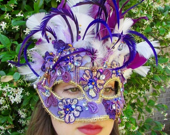 One of a Kind - Purple love Masquerade Collectible Mask