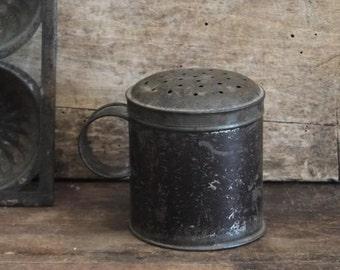 Antique Tin Sugar Shaker, Primitive Kitchen Antiques