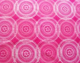 Pink & White Circles! Fleece Blanket