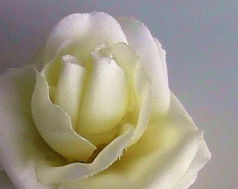 Tiny White Rose Hair Clip