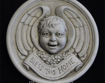 Blessing Cherub plaque by Jay W. Hungate