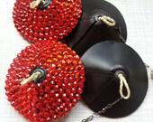 Fire Nipple Tassels - PLAIN SET  - no rhinestones