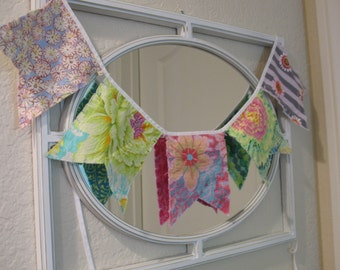 Penant Bunting - CUSTOM order - choose your fabrics and quantity of penants flags