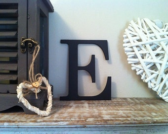 Wooden Wall Letter - E, Roman Font - Various sizes, finishes and colours - 20 inch