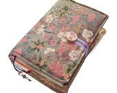 Large Bible Cover, Silk Kimono Fabric, Fabric Book Cover, Dusky Lilacs, UK Seller