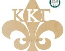 Kappa Kappa Gamma Fleur De LIs Wall Hanger - Door Hanger