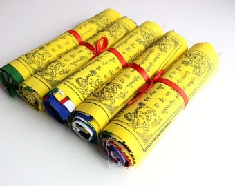 Mixed Version Tibetan Prayer Flags with Victory Mantra