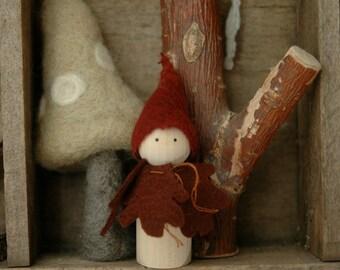 Autumn Oak peg doll