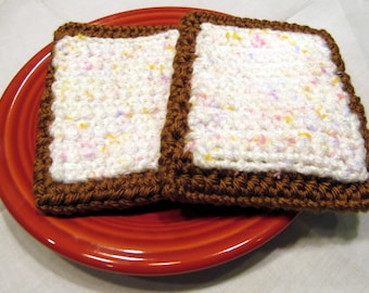 Play Food - CROCHET BAKERY - Toaster Pastries