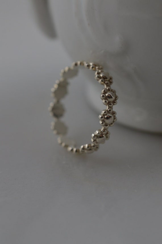 Sterling Silver Daisy Flower Ring