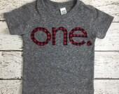 Buffalo Check birthday shirt Red and Black Plaid Tee Organic Shirt Blend Grey lumberjack plaid baby toddler children