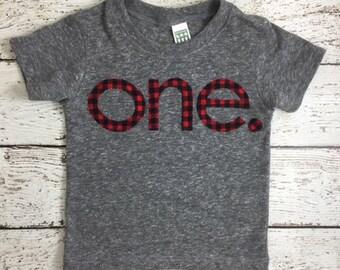 Buffalo plaid shirt, Buffalo Check birthday shirt, Lumberjack party, Red Black Plaid, Organic Shirt, first birthday shirt,  lumberjack plaid