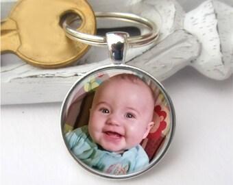 Photo Keyring, Custom Photo Keychain, Personalized Keychain
