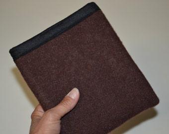 Kindle Oasis practical inexpensive minimalist Sleeve handmade of Wool blanket weight fabric BROWN Smoky Mountain National Park