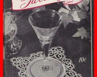 TATTING Vintage Pattern Book 1946 JP Coats & Clark's,#229,  Laces, Linens, Doilies, Hankies