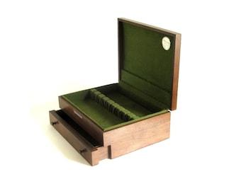 Empty Silverware Box Wood Flatware Case Drawer Silver Chest McGraw