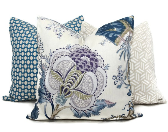 Schumacher Indian Arbre Hyacinth Pillow Cover 20x20 By