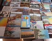 Vintage Souvenir Folders & Postcard Lot Travel 33 pc Assortment Cityscapes Nature Landmarks Paper Ephemera