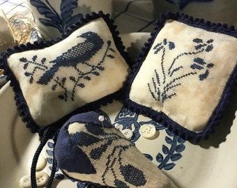 Stoneware Pin-pillows and Strawberry Pinkeep