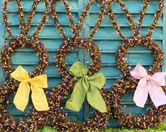 Rabbit Wreath- Easter Bunny Wreath - Bunny Wreath - Pastel Berry Wreath-