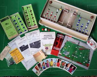 Vintage Subbuteo Table Soccer Football Game