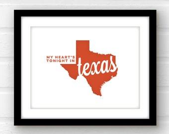 Texas wall art   Texas print   Texas pride   Lone Star State   Houston, Texas   San Antonio, Texas   Austin, Texas   Dallas, Texas  