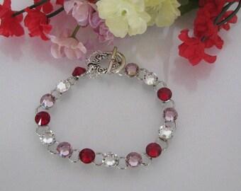 Personalize Birthstone Bracelet-Mothers Birthstone Bracelet-Three Birthstone Bracelet-Mother's Gift-Mothers Day Bracelet-Mothers Day Gift