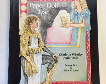 Vintage 1990s Colorful Days and Knights Of Camelot Paper Doll Book Charlotte Whatley Mike Mclaren
