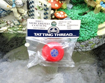 Christmas Red Tatting Thread 100 yds Packaged Free Shipping
