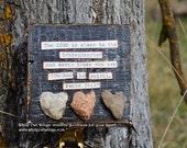 Heart Rock Art, Scripture Art, Bible Verse Decor, Wood Scripture Art by Jodene Shaw