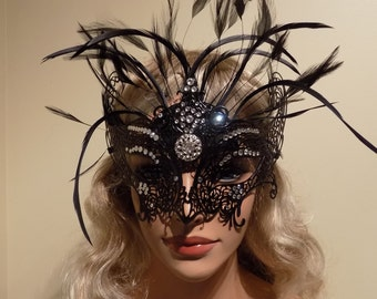 Party Carnival Costume Theatre Mask Handmade