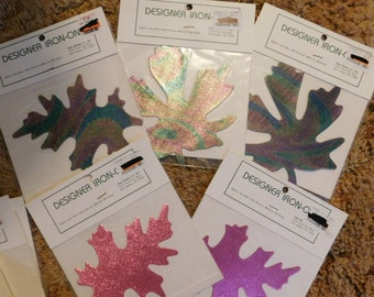 Vintage Appliques Lot of 17  Leaves  Autumn Fall   NEW  Non Smoking Home   Sale Destash