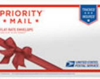 """PRIORITY MAIL Shipping Flat Rate in a Gift Envelope 10"""" x 7"""""""