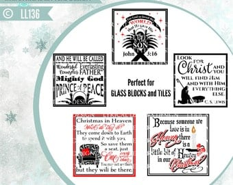 Christmas Block Designs Empty Chair Heaven John 3:16 Jesus LL136 - SVG - Cut File - ai, eps, svg, dxf (for Silhouette users), png, jpg