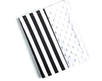 Baby Burp Cloth Black Stripe - Minky Burp Cloth - Black Burp Cloth - Baby Shower Gift - Monochrome Burp Cloth - Stripe Burp Cloths