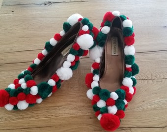 Ugly Christmas sweater party shoes!  Size 7