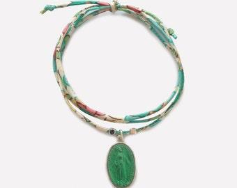 Liberty Bracelet with Miraculous Medal • Bracelet Liberty Médaille Miraculeuse