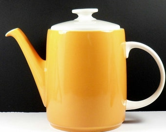 Royal Doulton Teapot 4 Cups Orange White Sundance TC 1087 1920s