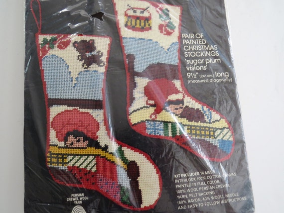 Sale Bucilla Needlepoint Christmas Stocking By Shabbyshopgirls