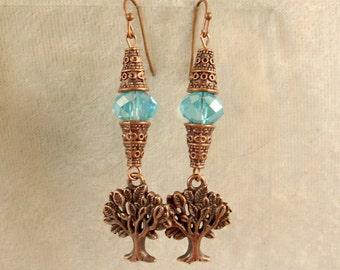 Glass and Metal Earrings - LE43