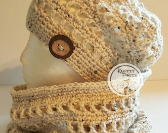 Slouchy Beanie and Cowl Set