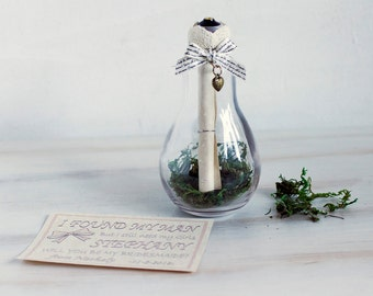 Will You Be My Message in a Bottle Bridesmaid Proposal Maid Of Honour Flower Girl Invite Bridesmaid Ask Bridesmaid Custom Bridesmaid Invite