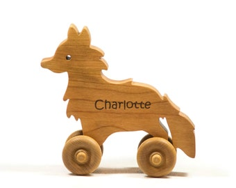 Wooden Toy Car Wooden Car - Fox Car Personalized for Children and Baby