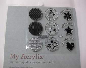 Acrylic Stamp Set - Close to My Heart #B1372 - Circle Together Flair