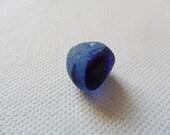 Cobalt & cornflower blue sea glass multi - Lovely English beach find piece from Seaham, UK
