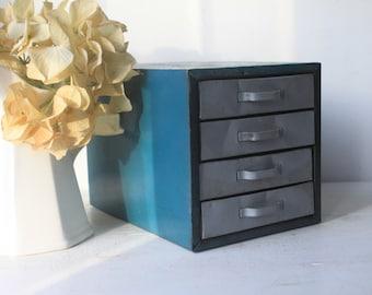 Vintage Metal Cabinet, Drawers