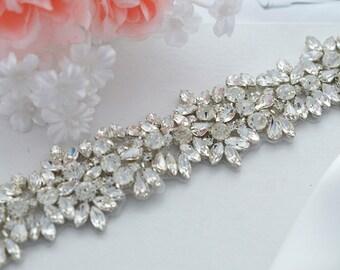 SALE JASMINE SWARVOSKI wedding crystal sash , belt