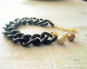 Chunky Chain Bracelet,Chain Bracelet,Summer Jewelry, Chunky Jewelry, Link Bracelet, Bridesmaid Gift, Aqua, Coral, Bracelet, Summer Trends,