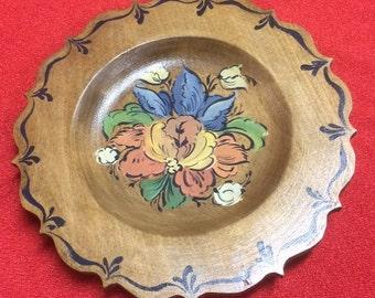 Norwegian Rosemaling -- Hand Painted Plate -