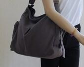 NEW YEAR SALE 30% - Sam in Grey / Women / Single Strap Bag / Shoulder Bag / Cross body Bag / Sling Bag / Handbag / Messenger Bag / Market Ba